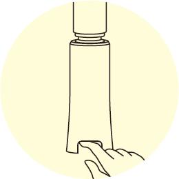 指に吹き付けるイラスト
